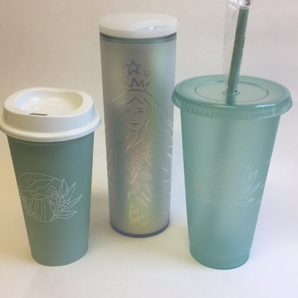 Starbucks 50th anniversary frosted tumbler & Cups